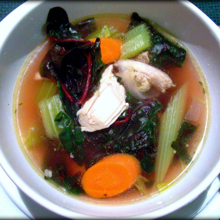 Holiday Timeout:  Turkey Vegetable Soup with Swiss Chard