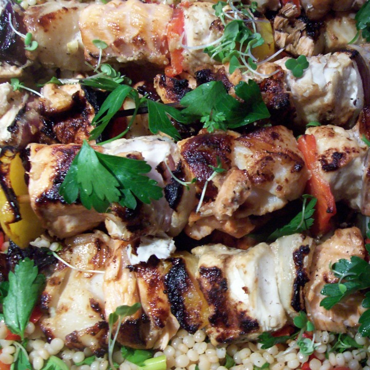 Easy Entertaining: Grilled Salmon and Halibut Skewers