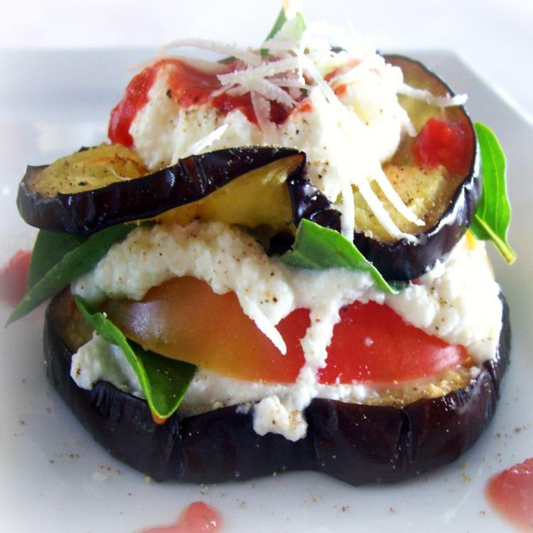 Aubergine Tomato Stack