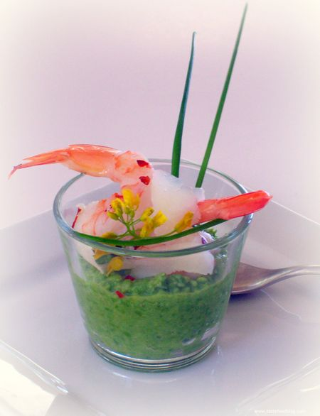Shrimp and Pea Puree