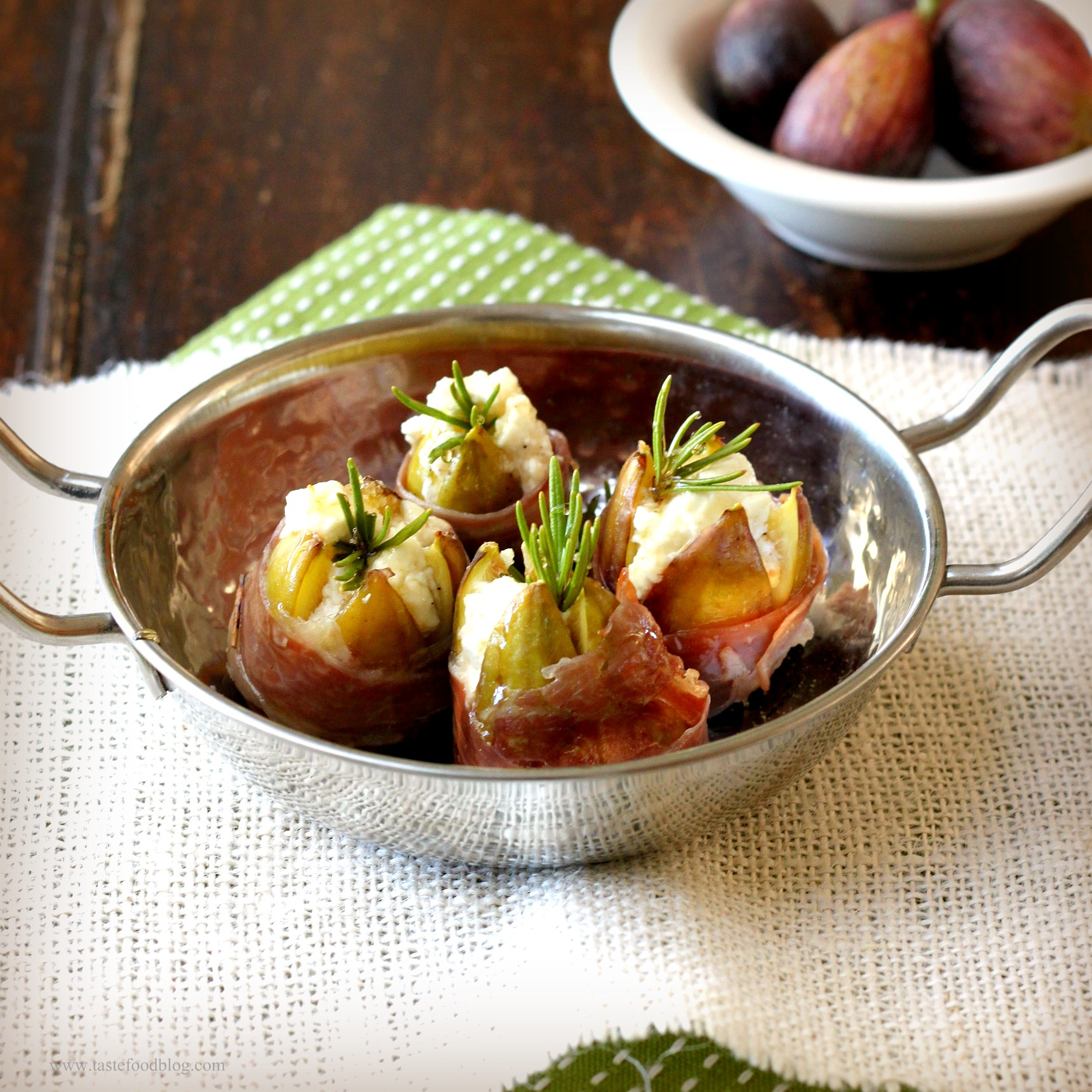 Stuffed Figs with Goat Cheese and Prosciutto | TasteFood