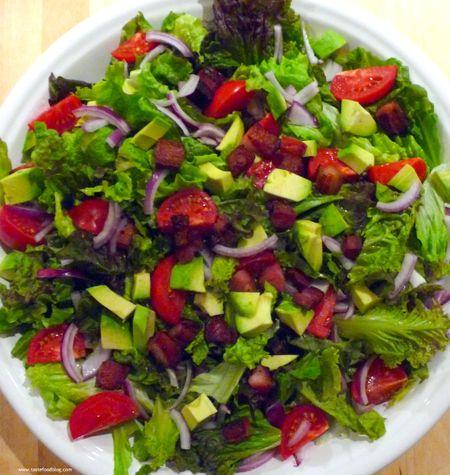 Bacon Avocado Tomato Salad
