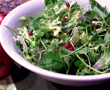 Pomegranate and Winter Greens 6