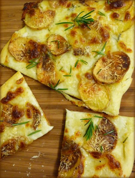 Potato Rosemary Pizza