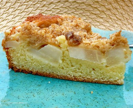 Pear Streusel Slice tf