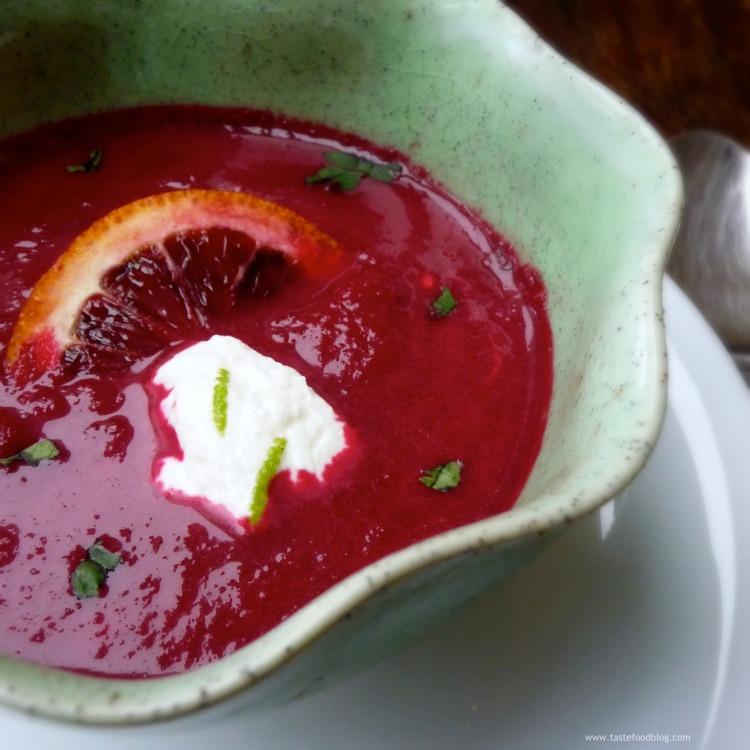 Red Beet Blood Orange Soup