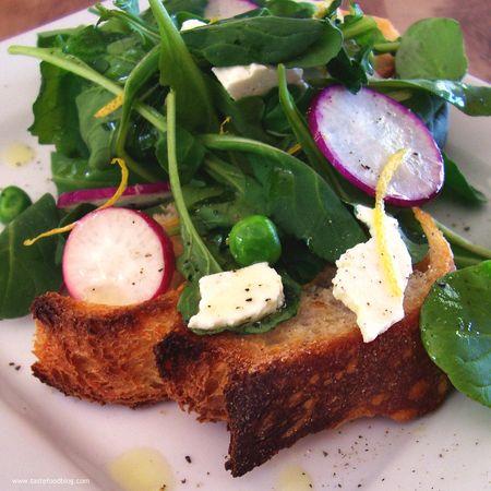 Spring Salad Bruschetta