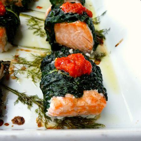 Salmon Kale Baked