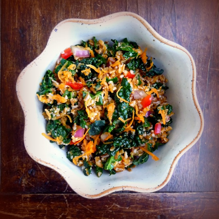 Kale, Bulgur and Carrot Salad