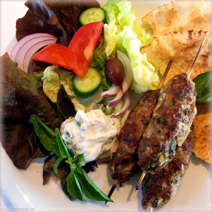 My Big Fat Greek Dinner: Grilled Spiced Lamb Kefta Skewers
