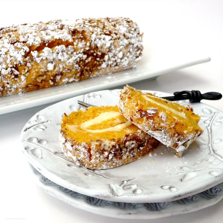 Pumpkin Pecan Roulade