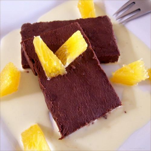 ... Dessert: Chocolate Terrine with Orange Crème Anglaise | TasteFood
