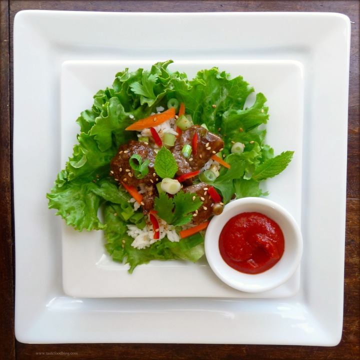 Korean-Style Beef Lettuce Cups