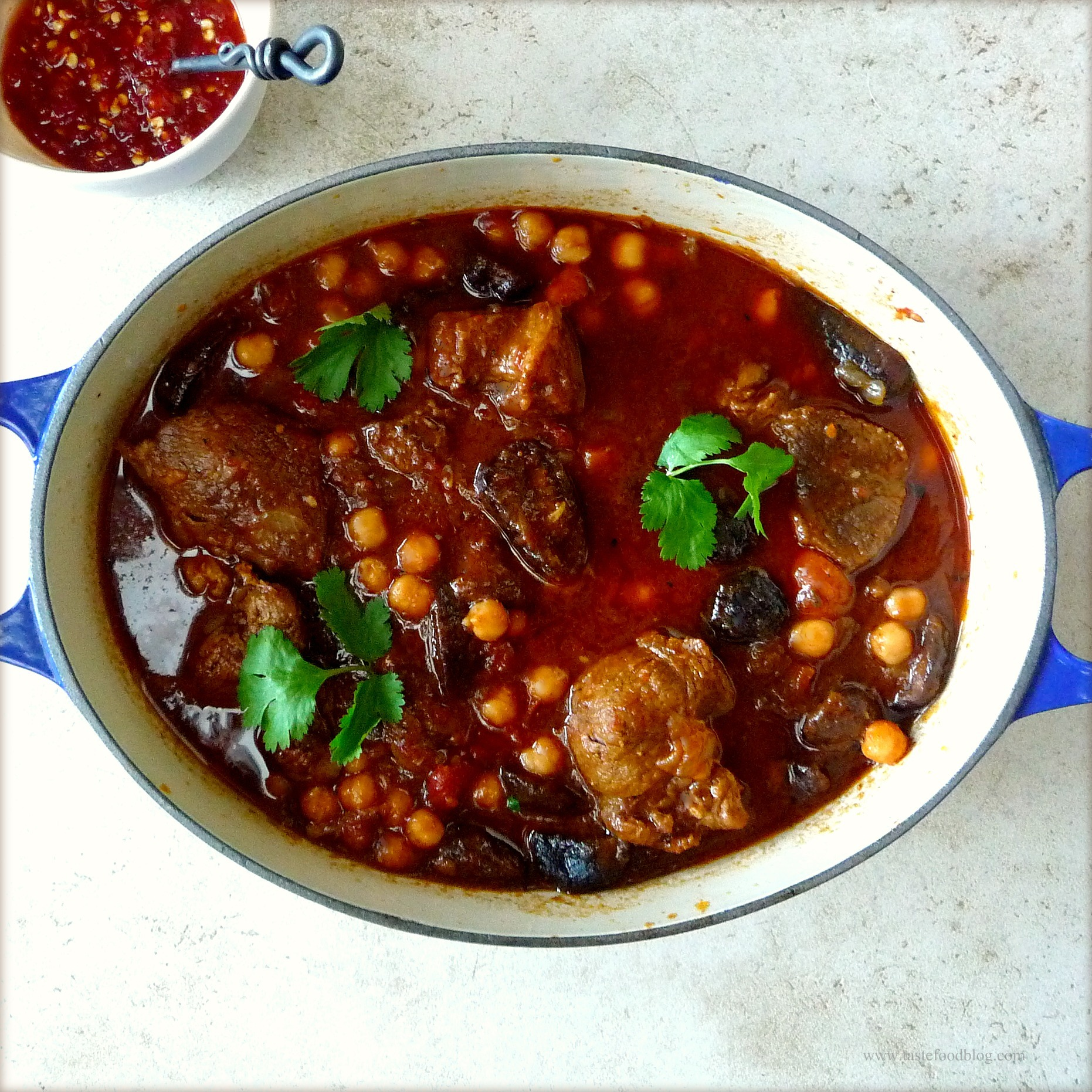 Moroccan Lamb Stew with Figs and Chickpeas TasteFood