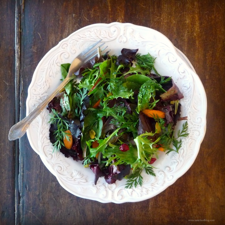 Winter Greens Salad with Cranberries andPistachios