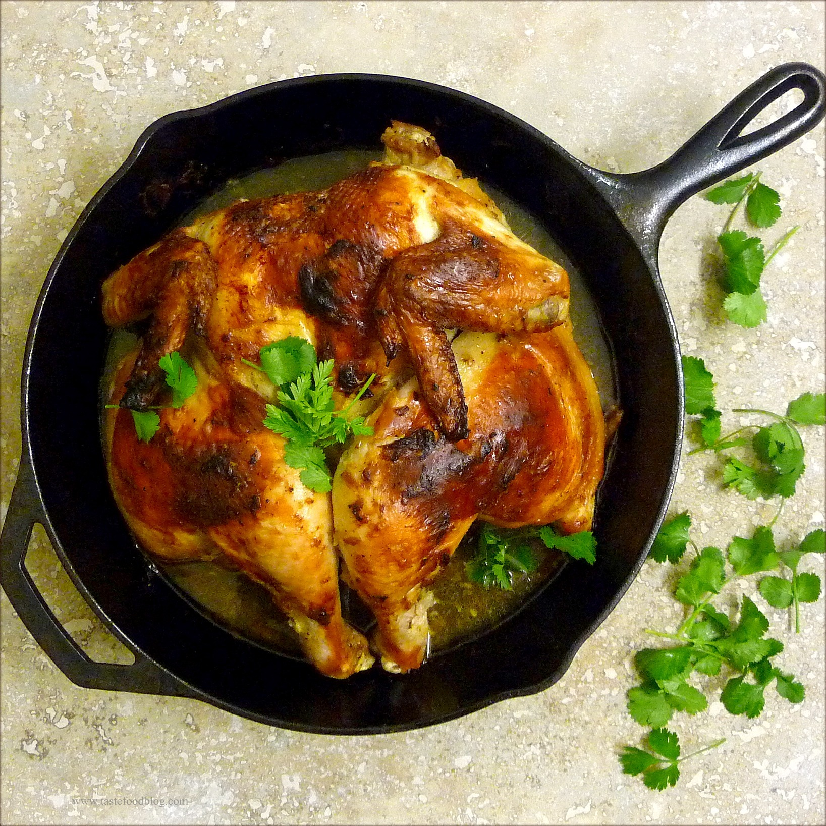 Roasted Chicken with Cardamom and Yogurt | TasteFood