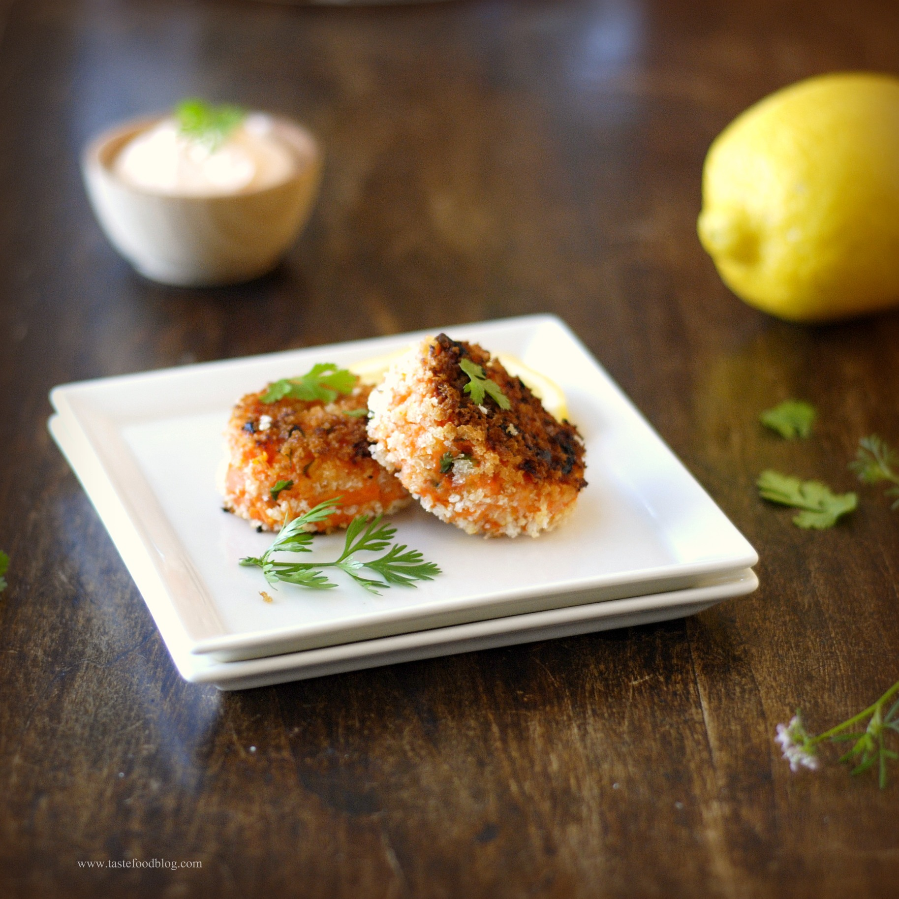 Smoked Salmon Fish Cakes.