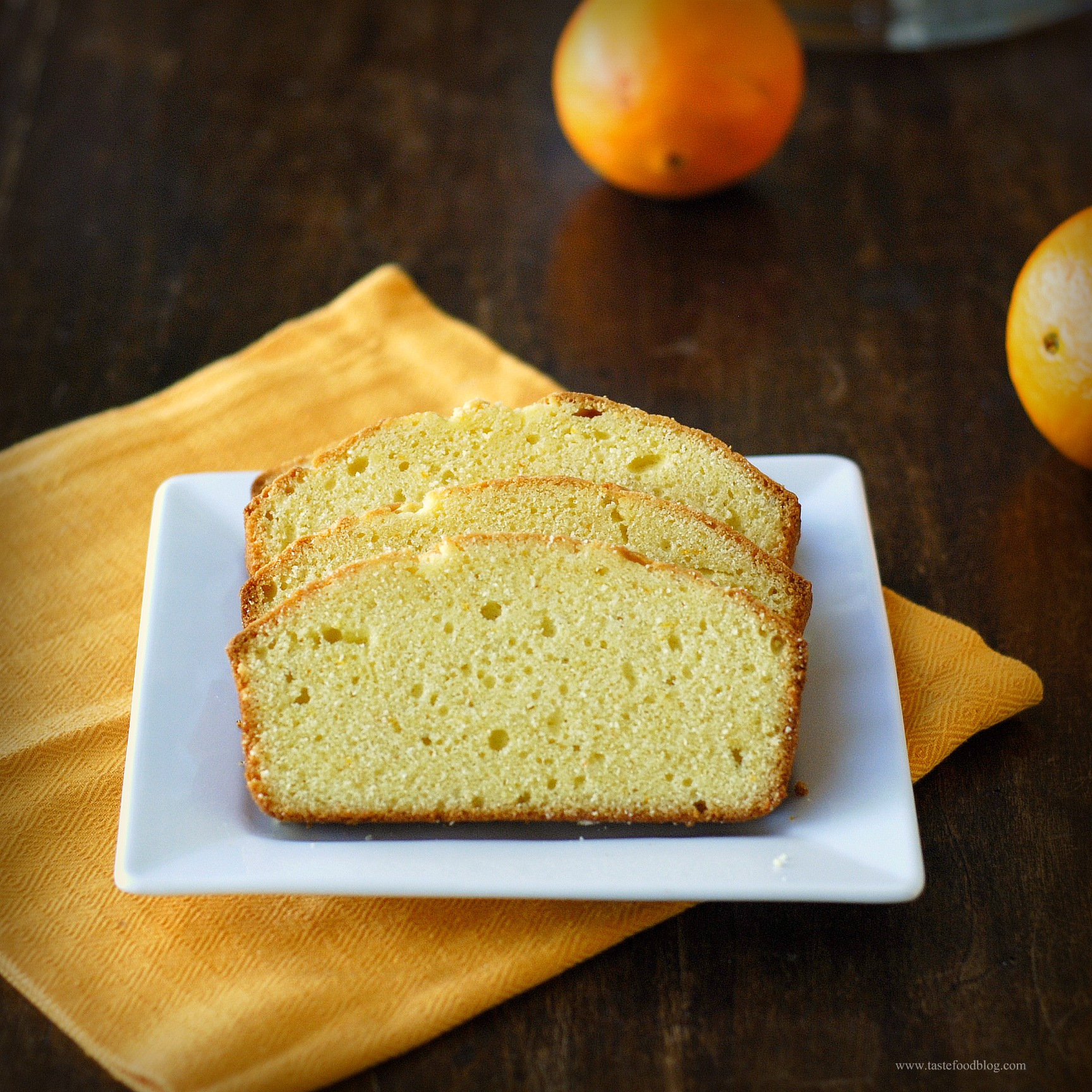 Orange Pound Cake Loaf Recipe