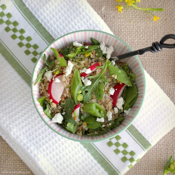 "Spring ""Tabbouleh"" – Bulgur Salad with Lemon, Radishes and Snap Peas"