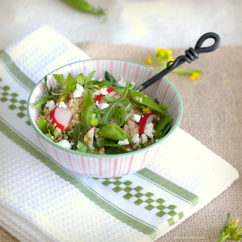 "Spring ""Tabbouleh"" – Bulgur Salad with Lemon, Radishes and Snap ..."