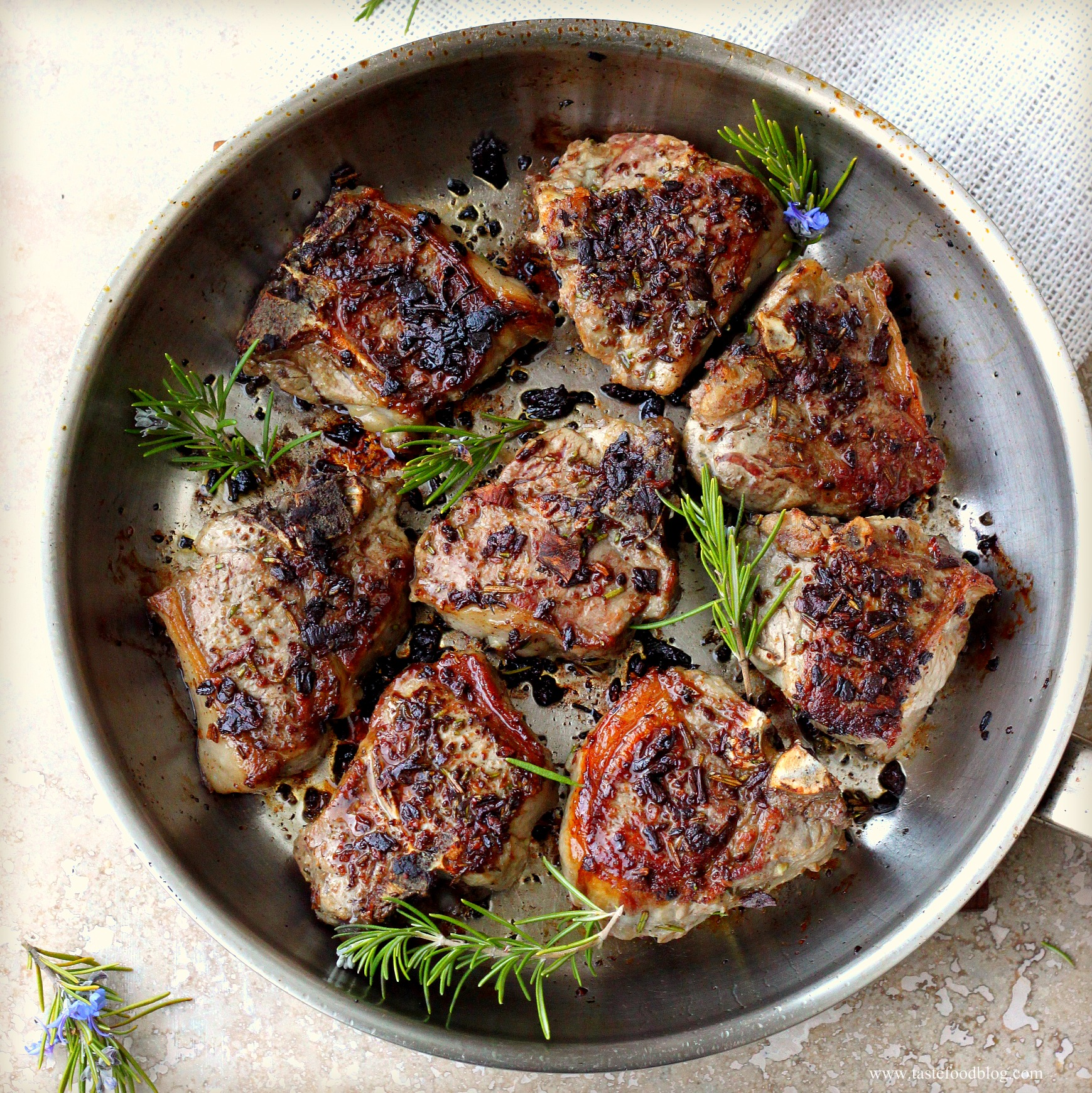 Porcini And Rosemary Crusted Lamb Loin Chops Tastefood