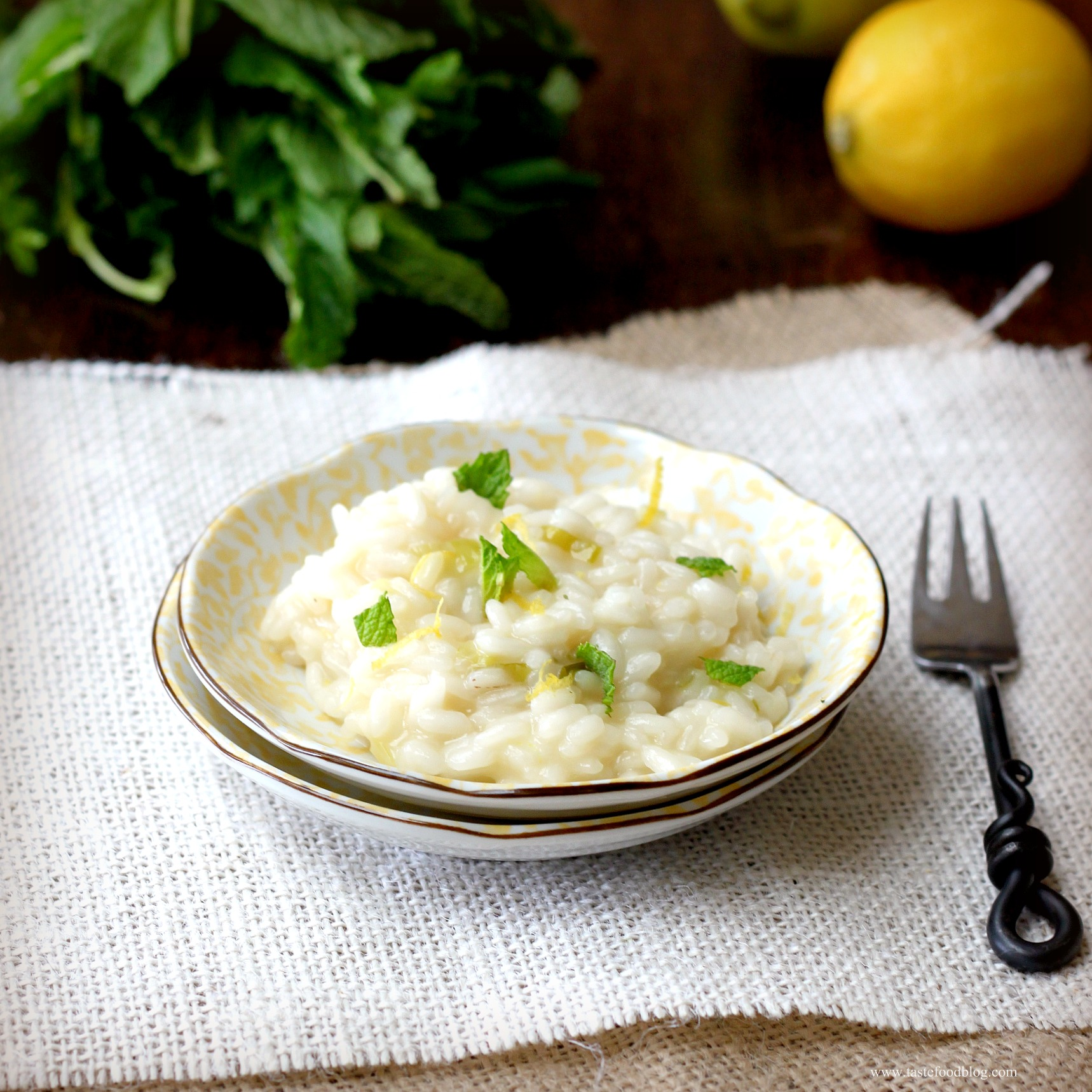 Lemon Risotto with Mint | TasteFood