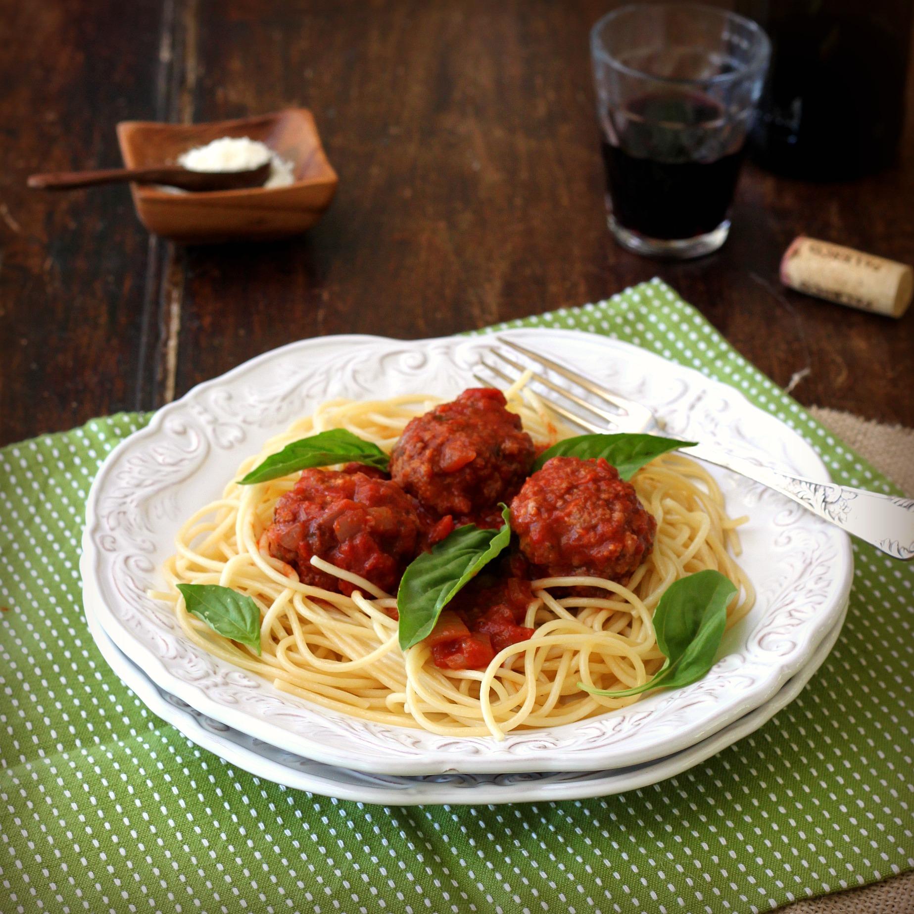 Meatballs And Spaghetti Recipe — Dishmaps