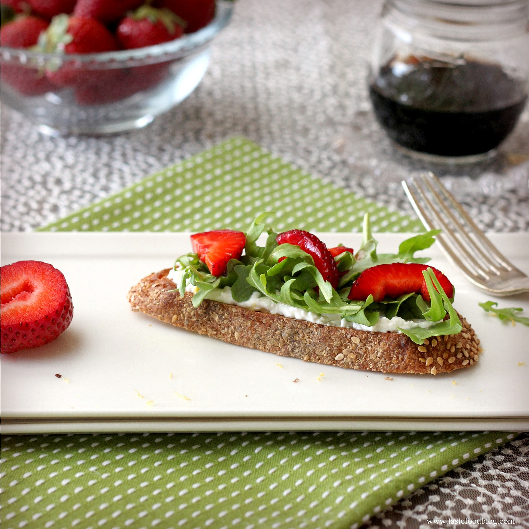 Strawberry Ricotta Bruschetta with Lemon and Arugula ...