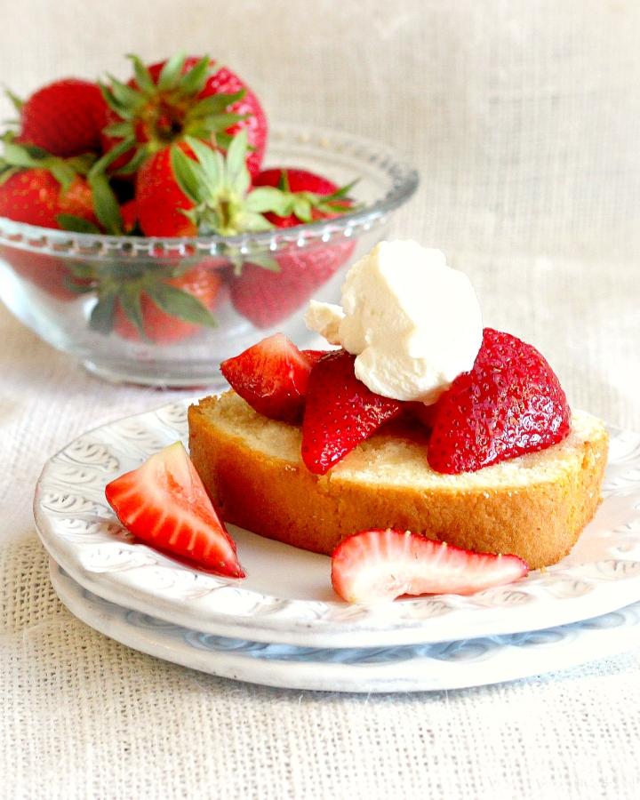 Strawberry Coriander Pound Cake