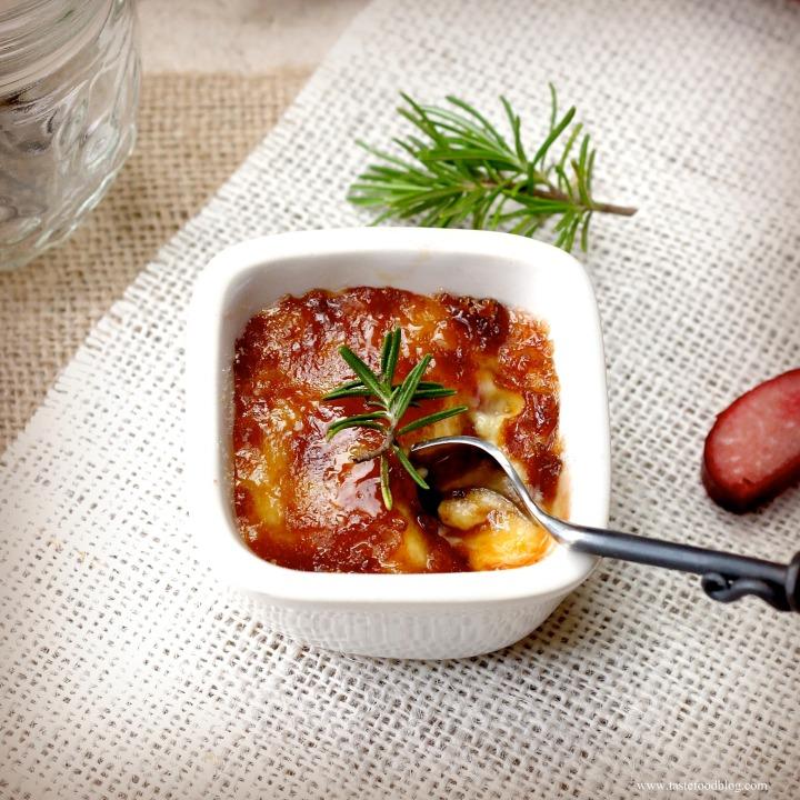 Rhubarb and Rosemary CrèmeBrûlée