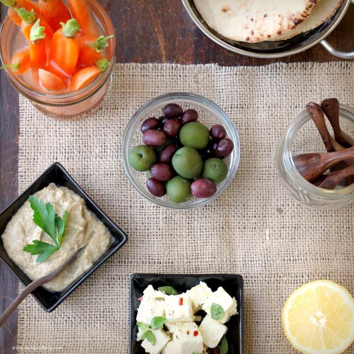 Entertaining with Mezze: Recipes for Marinated Feta and BabaGanoush