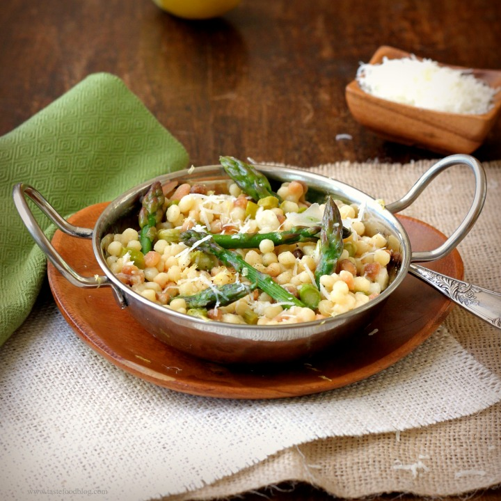 Fregola Sarda with Asparagus and Lemon
