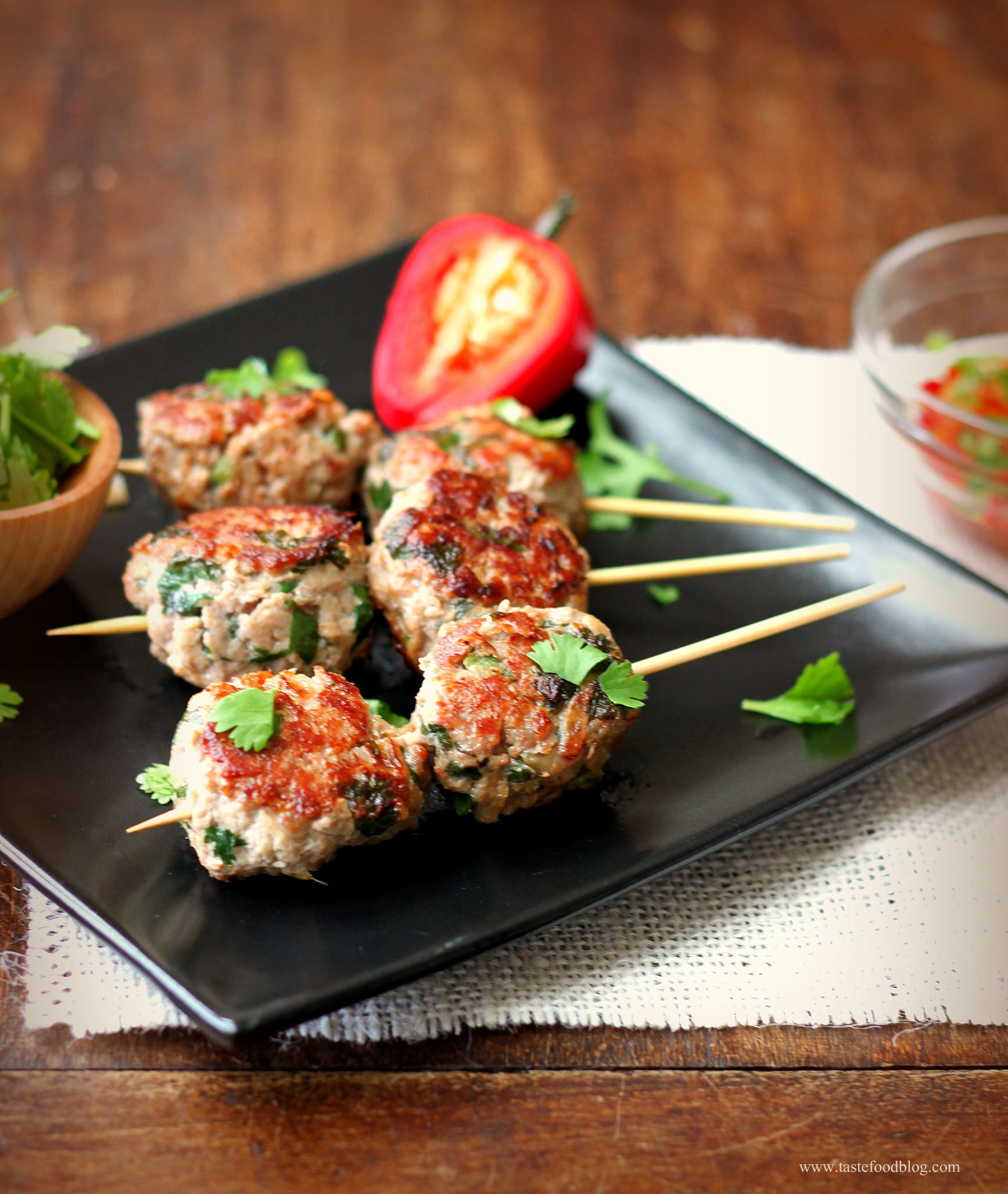 On A Stick! And A Recipe For Chinese Meatballs