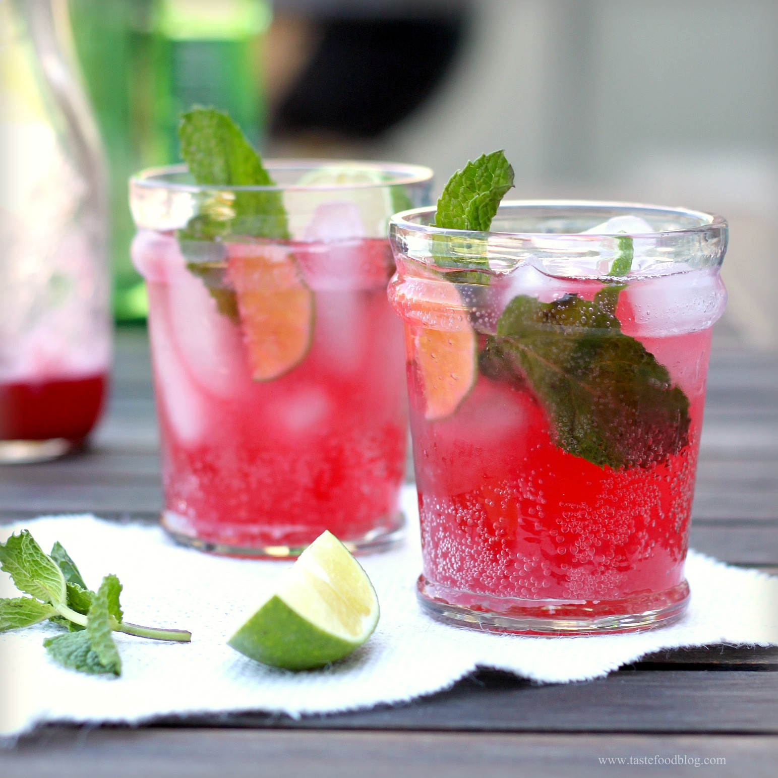 Blackberry, Lime and Mint Spritzers~