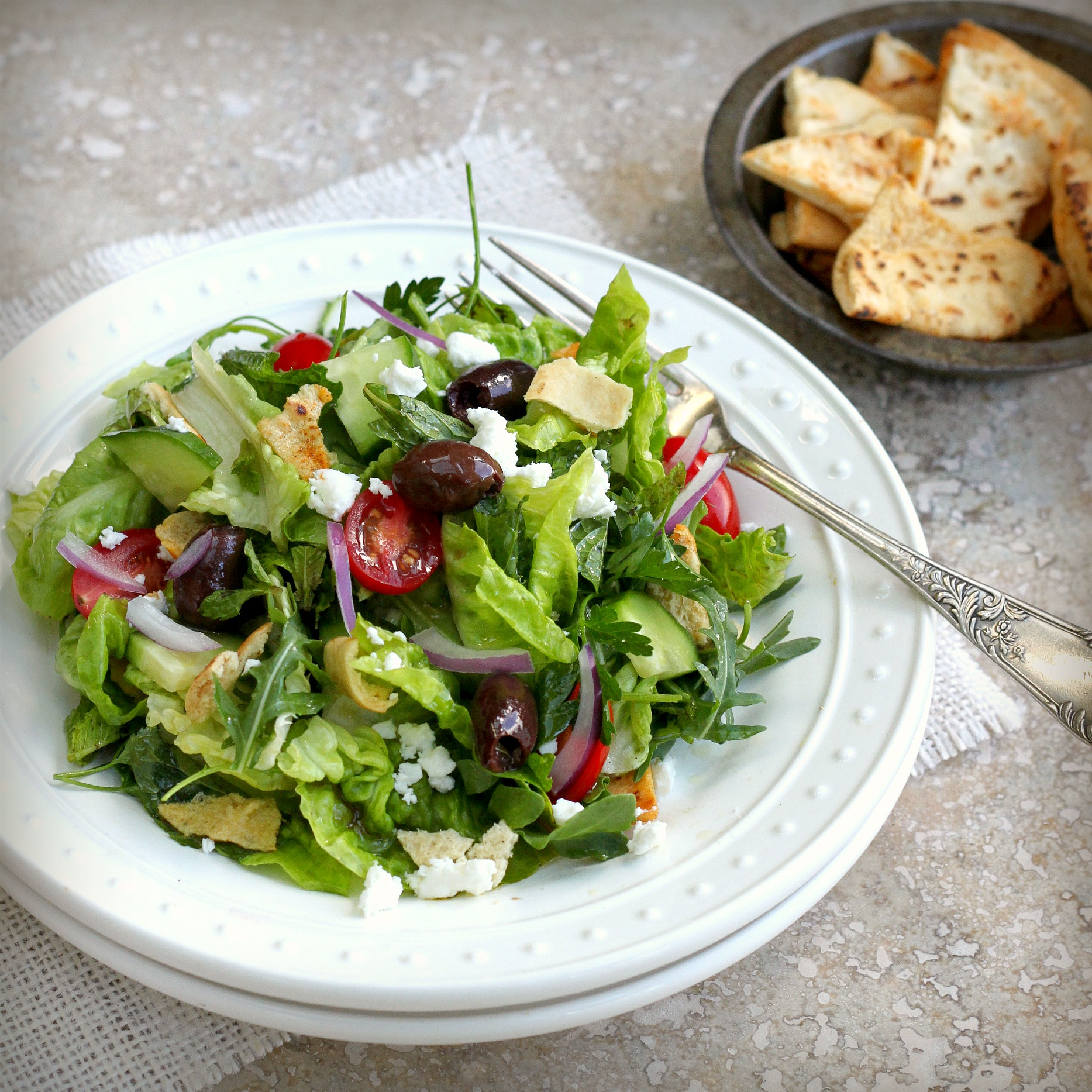 ... in seattle fattoush salad with za atar middle eastern fattoush salad