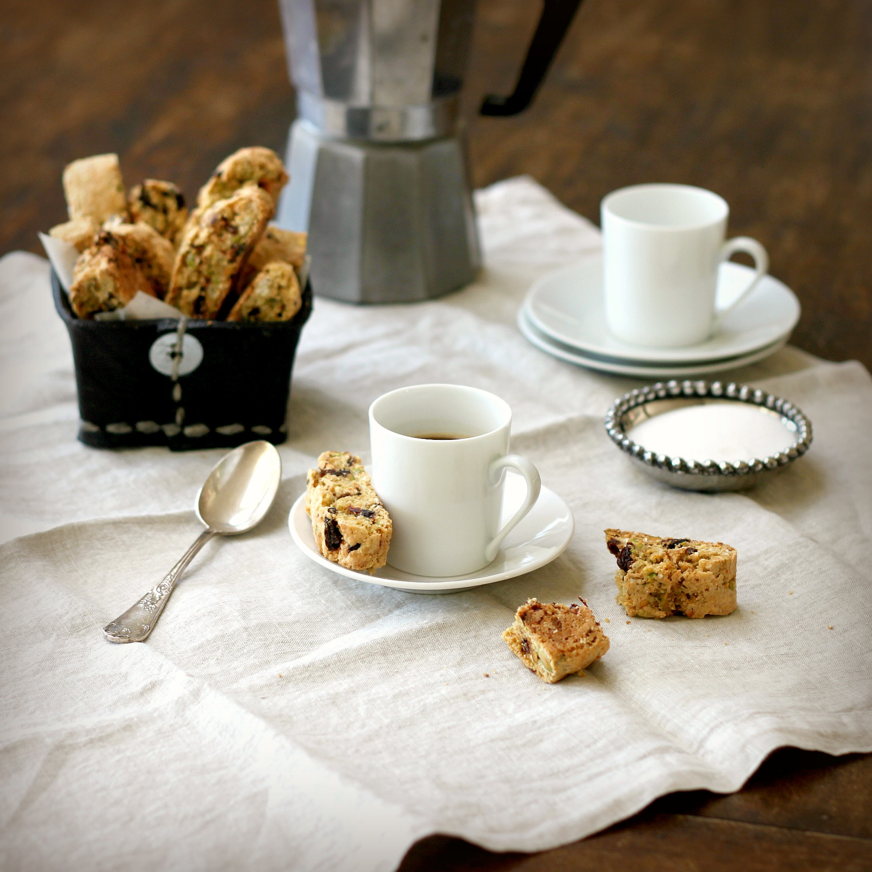 Dried Cherry and Pistachio Biscotti | TasteFood