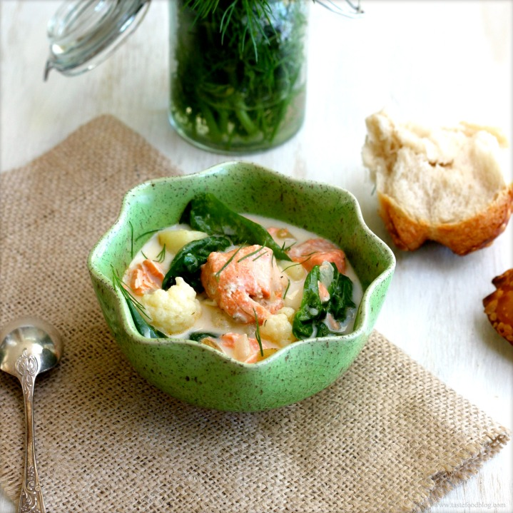 Salmon and Spinach Chowder