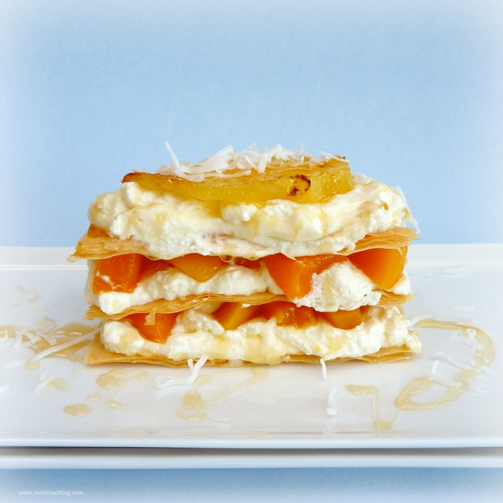 Caramelized Pineapple and Mango Napoleons