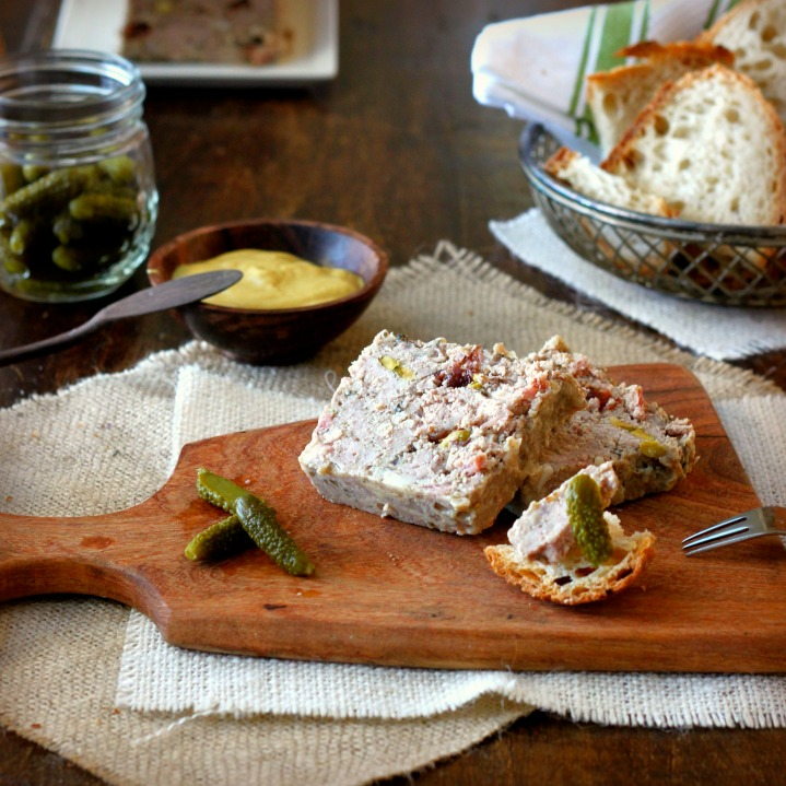Homemade Country Pâté (Pâté de Campagne) with Cranberries and Pistachios