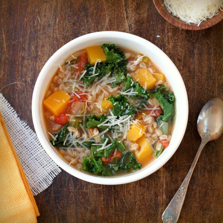 farro and kale soup