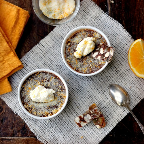 Chocolate Orange Pots de Creme with Fleur de Sel | TasteFood