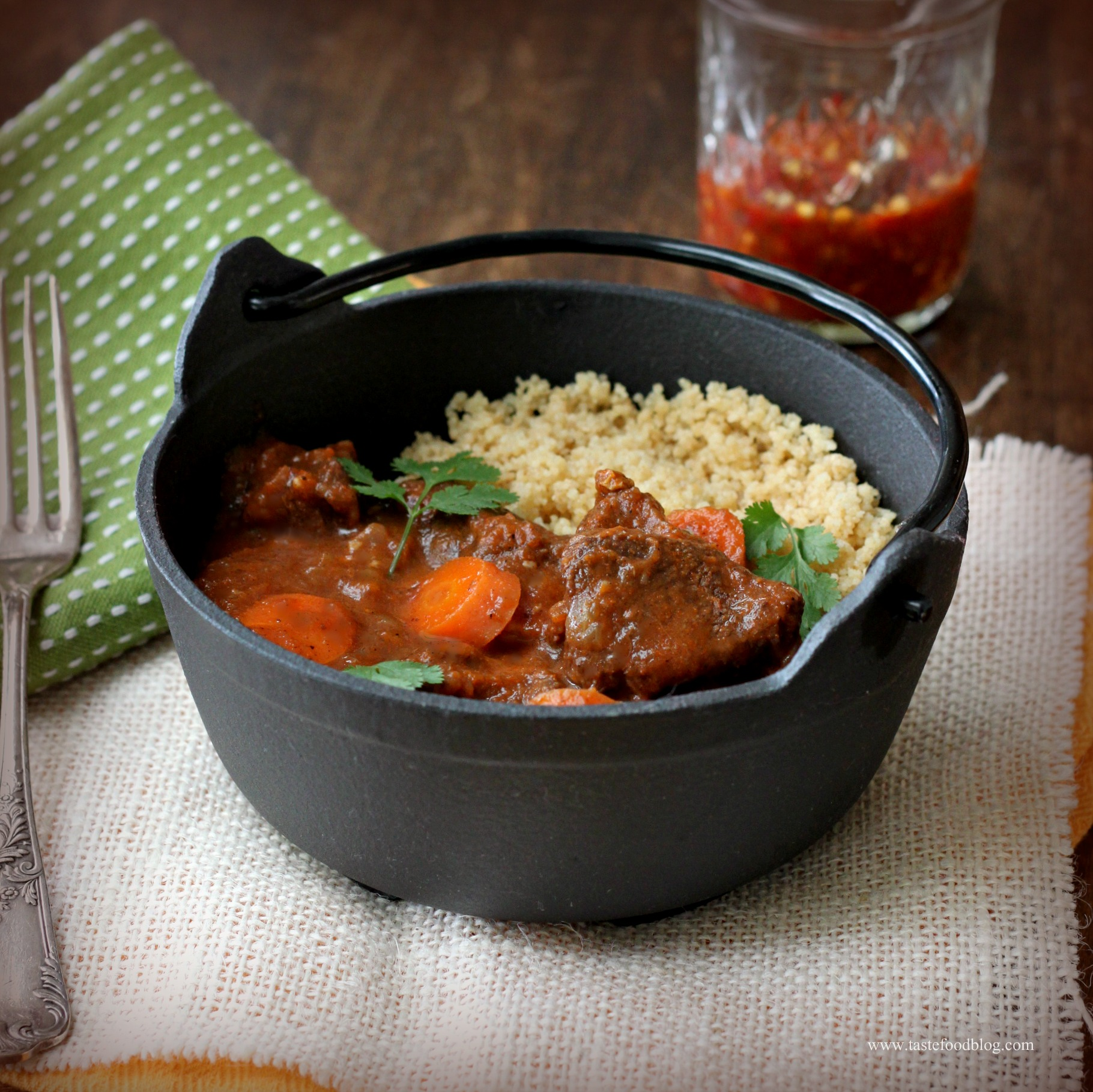 Lamb Tagine With Garlic, Honey And Raisins Recipe — Dishmaps