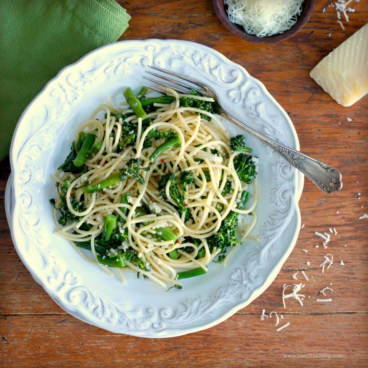 Spaghetti with Broccolini, Breadcrumbs and ChiliFlakes
