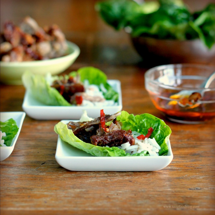 Momofuku Bo Ssam – Lacquered Pork in LettuceLeaves