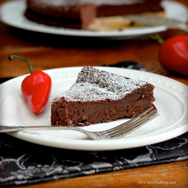 Flourless Chile-Chocolate Cake