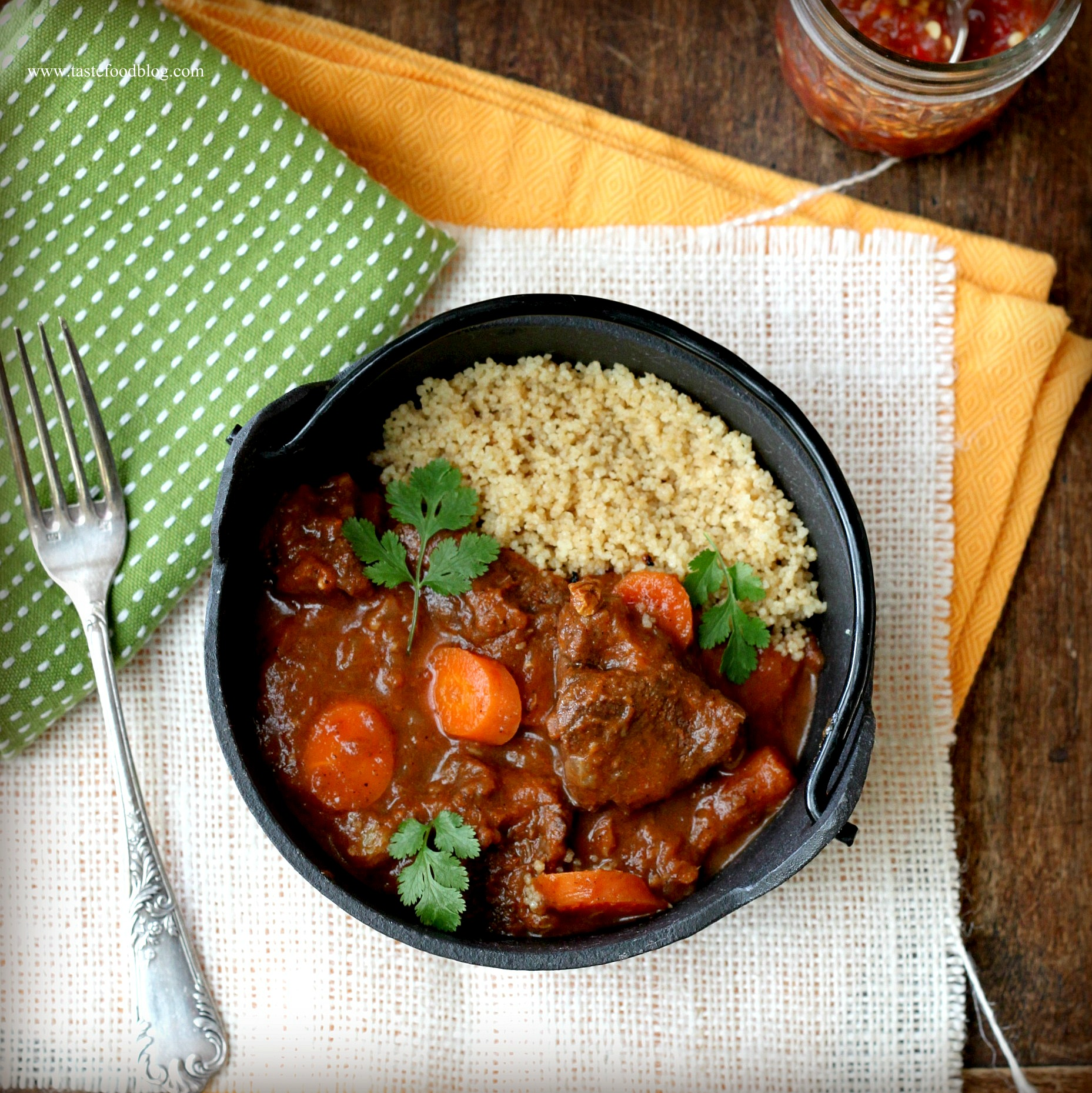 Moroccan Lamb Tagine With Sweet Honey Figs Recipe — Dishmaps