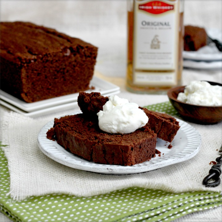 Chocolate Stout Pound Cake with Whiskey Cream