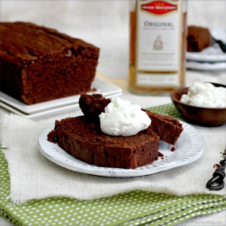 Chocolate Stout Pound Cake with WhiskeyCream