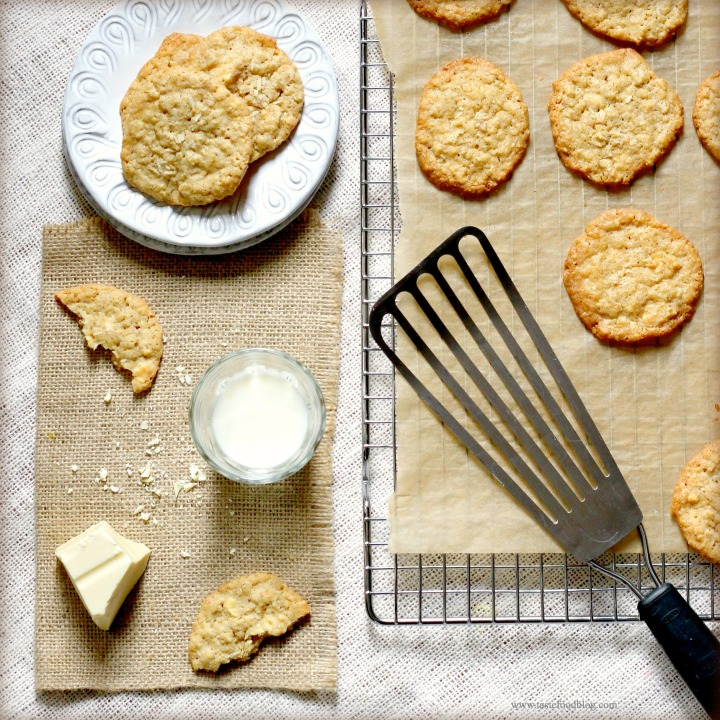Home Baking: White Chocolate and Coconut Oatmeal Cookies