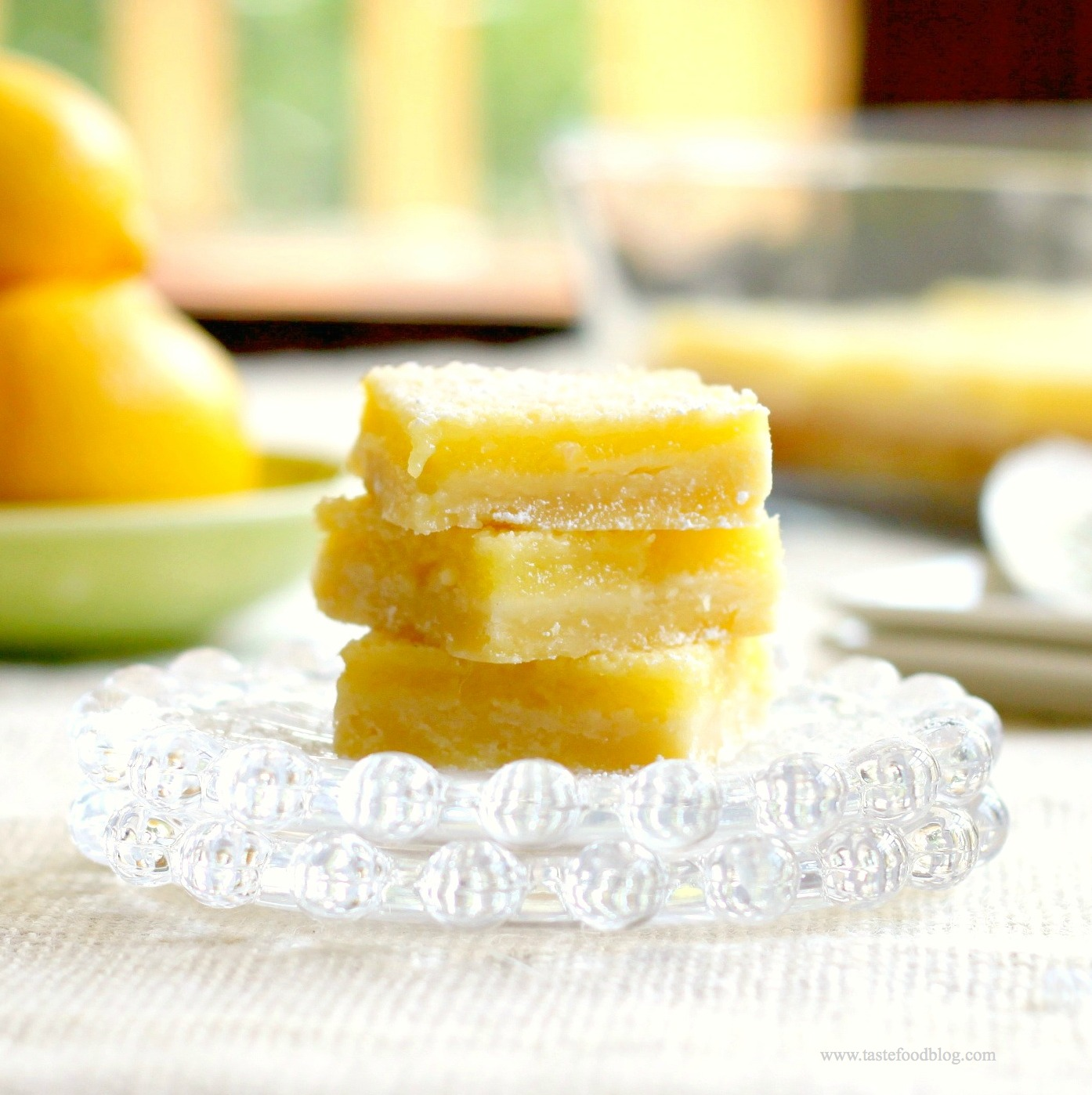 very lemony lemon bars ~